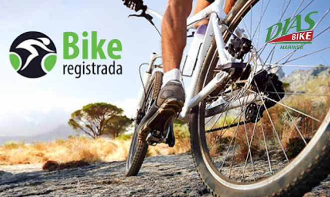 Bike branca com paisagem off road - Dias Bike