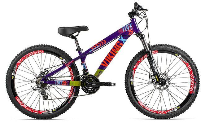 Montain bike roxa Viking X - Dias bike
